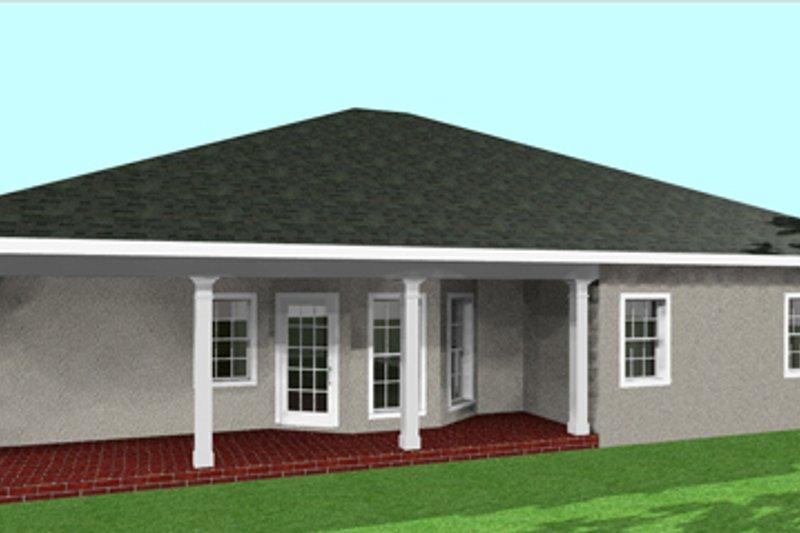 Southern Exterior - Rear Elevation Plan #44-133 - Houseplans.com