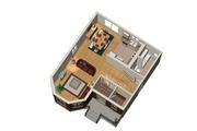 Victorian Style House Plan - 3 Beds 1 Baths 1442 Sq/Ft Plan #25-4673 Floor Plan - Main Floor