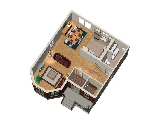 Victorian Floor Plan - Main Floor Plan #25-4673