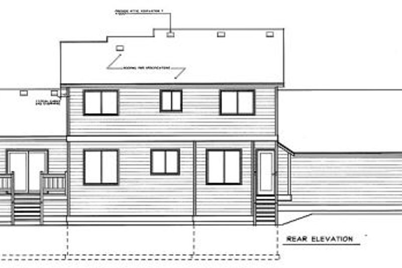 Traditional Exterior - Rear Elevation Plan #94-217 - Houseplans.com