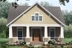 Country style Cottage design elevation