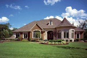 Country Exterior - Front Elevation Plan #46-740