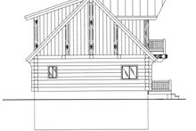 Log Exterior - Rear Elevation Plan #117-412