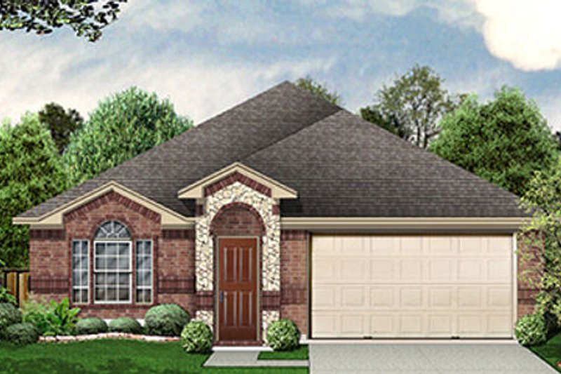 Traditional Exterior - Front Elevation Plan #84-457 - Houseplans.com
