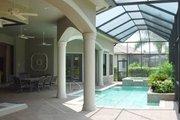 Mediterranean Style House Plan - 3 Beds 4 Baths 3650 Sq/Ft Plan #27-324 Exterior - Outdoor Living