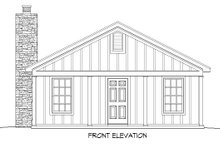 Country Exterior - Front Elevation Plan #932-199