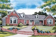 Country Style House Plan - 3 Beds 2.5 Baths 1709 Sq/Ft Plan #314-203 Exterior - Front Elevation