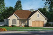 Traditional Style House Plan - 3 Beds 2 Baths 1413 Sq/Ft Plan #20-2423
