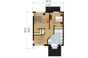 Contemporary Style House Plan - 2 Beds 1 Baths 1247 Sq/Ft Plan #25-4434 Floor Plan - Upper Floor