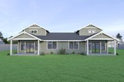 Craftsman Style House Plan - 3 Beds 2.5 Baths 1440 Sq/Ft Plan #1070-95 Exterior - Rear Elevation