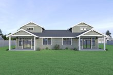 Craftsman Exterior - Rear Elevation Plan #1070-95