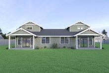 Dream House Plan - Craftsman Exterior - Rear Elevation Plan #1070-95