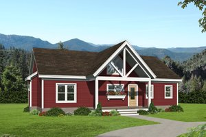 Country Exterior - Front Elevation Plan #932-305