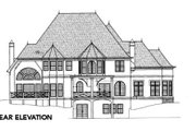 European Style House Plan - 4 Beds 3.5 Baths 3966 Sq/Ft Plan #119-107 Exterior - Rear Elevation