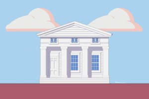 Classical designed home, elevation