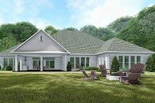 House Plan Design - European Exterior - Rear Elevation Plan #923-136