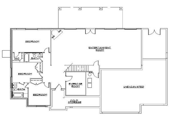 European Floor Plan - Lower Floor Plan Plan #5-279