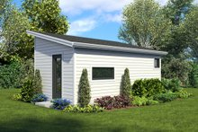 House Plan Design - Contemporary Exterior - Rear Elevation Plan #48-1025
