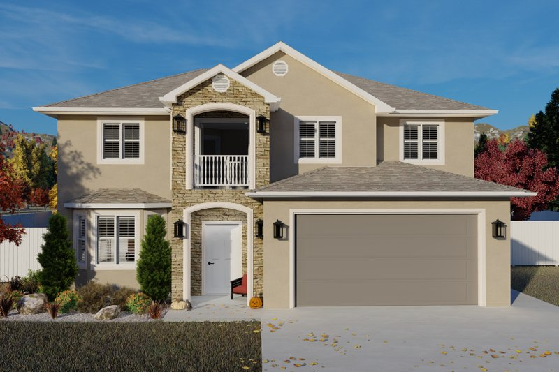 House Plan Design - Traditional Exterior - Front Elevation Plan #1060-105