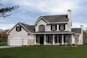 Country Style House Plan - 4 Beds 2.5 Baths 2343 Sq/Ft Plan #22-504 Exterior - Front Elevation