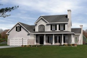 Country Exterior - Front Elevation Plan #22-504
