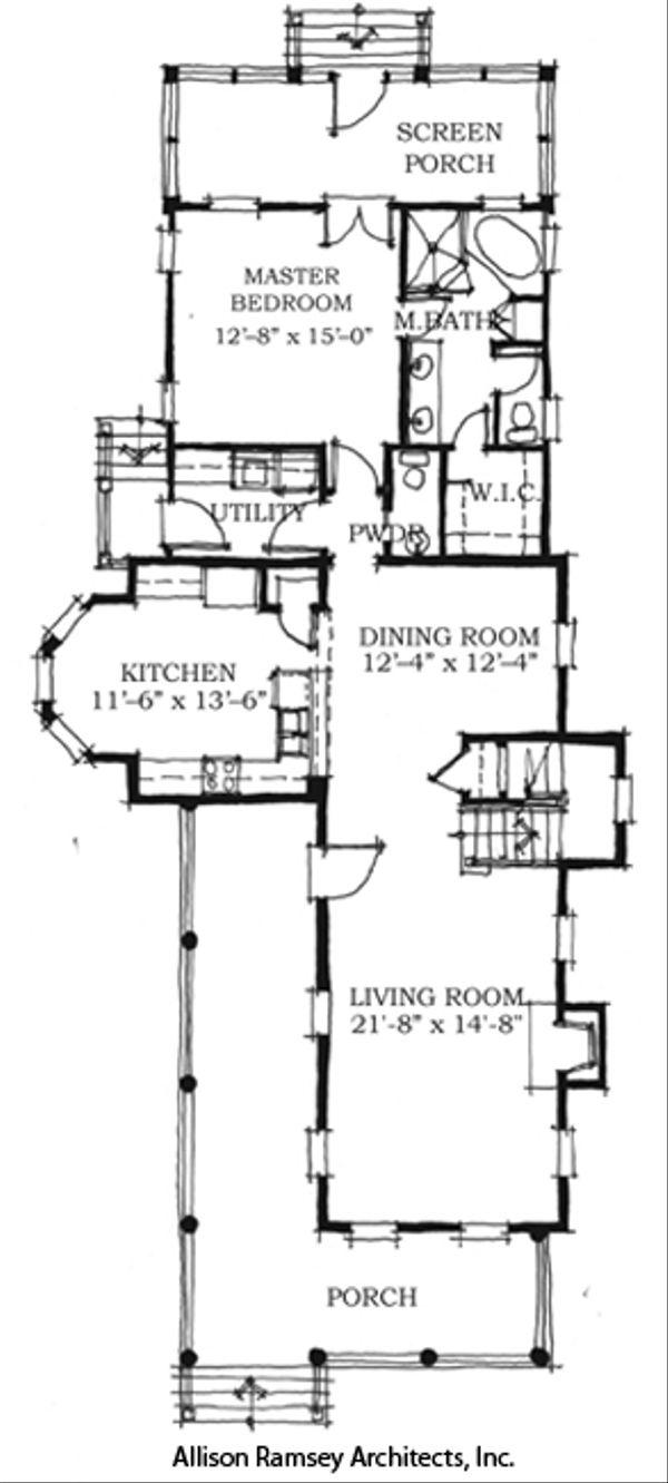Southern Style House Plan - 4 Beds 3.5 Baths 2678 Sq/Ft Plan #464-1 Floor Plan - Main Floor Plan