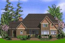 Dream House Plan - European Exterior - Rear Elevation Plan #48-358