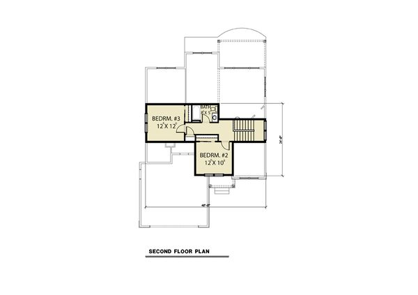 Craftsman Floor Plan - Upper Floor Plan Plan #1070-78