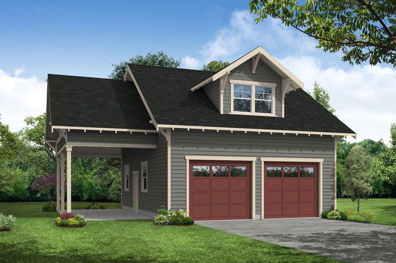 Home Plan - Craftsman Exterior - Front Elevation Plan #124-932