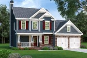 Craftsman Style House Plan - 3 Beds 2.5 Baths 1496 Sq/Ft Plan #419-157 Exterior - Front Elevation