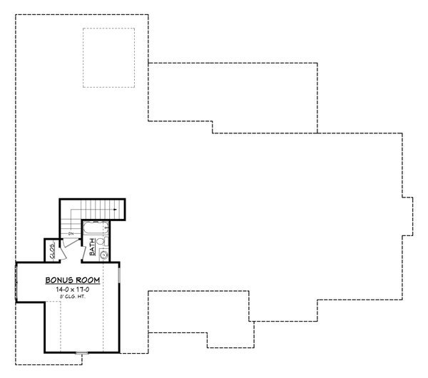 Craftsman Floor Plan - Upper Floor Plan Plan #430-170
