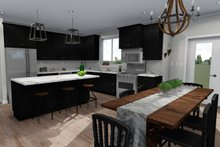Ranch Interior - Kitchen Plan #1060-40