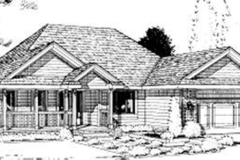 Traditional Exterior - Front Elevation Plan #20-519 - Houseplans.com
