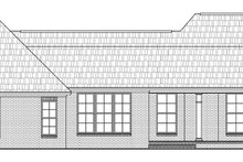 Dream House Plan - Traditional Exterior - Rear Elevation Plan #21-210