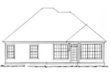 Home Plan - Traditional Exterior - Rear Elevation Plan #20-334