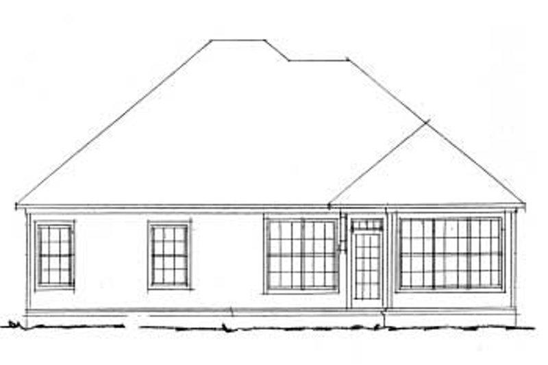 Traditional Exterior - Rear Elevation Plan #20-334 - Houseplans.com
