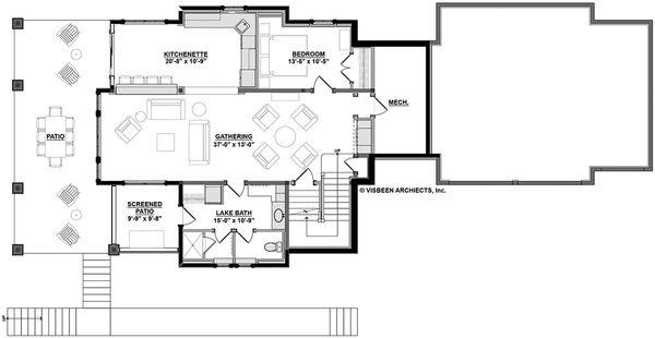 Country Floor Plan - Lower Floor Plan Plan #928-297