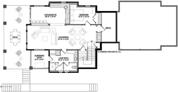 Country Floor Plan - Lower Floor Plan Plan #928-297