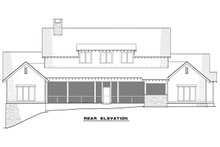 Craftsman Exterior - Rear Elevation Plan #17-3419