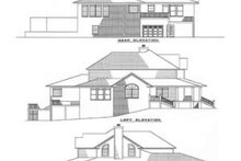 House Plan Design - Country Exterior - Rear Elevation Plan #17-242