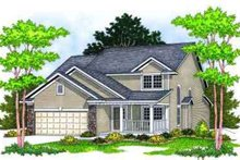 Architectural House Design - Traditional Exterior - Front Elevation Plan #70-662