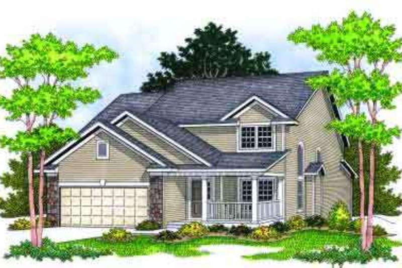 Traditional Style House Plan - 3 Beds 2.5 Baths 2299 Sq/Ft Plan #70-662 Exterior - Front Elevation