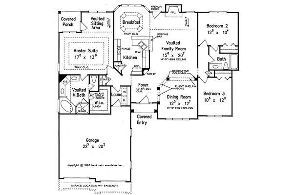 Dream House Plan - Traditional Floor Plan - Main Floor Plan #927-34