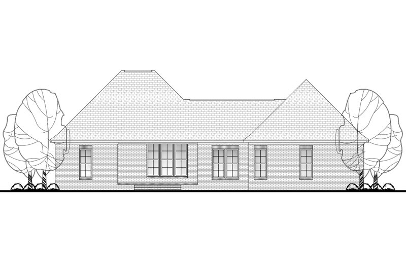 Craftsman Exterior - Rear Elevation Plan #430-99 - Houseplans.com