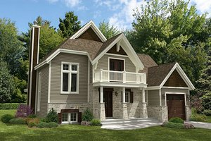 Cottage Exterior - Front Elevation Plan #138-341