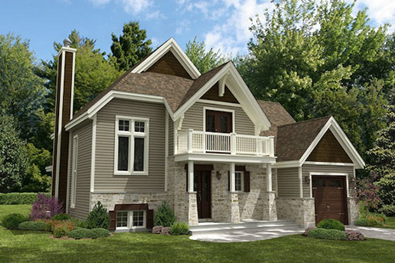 Cottage Style House Plan - 4 Beds 2 Baths 1888 Sq/Ft Plan #138-341 Exterior - Front Elevation