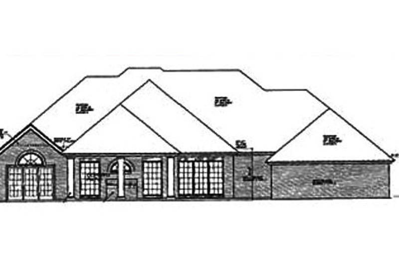 European Exterior - Rear Elevation Plan #310-638 - Houseplans.com