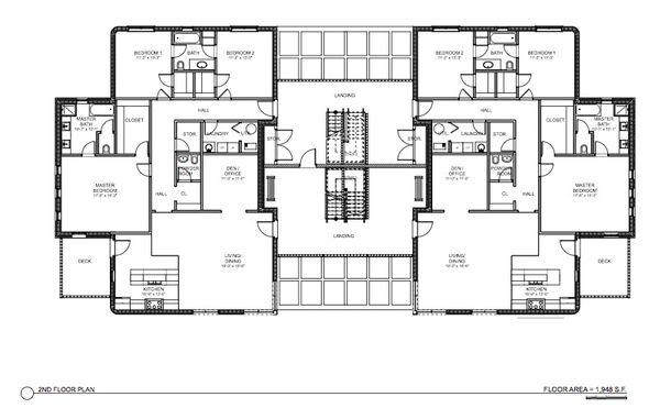 Modern Floor Plan - Main Floor Plan #535-15