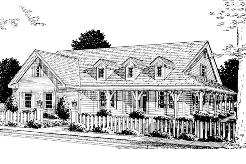 Home Plan - Country Exterior - Front Elevation Plan #20-168