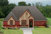 European Style House Plan - 4 Beds 2 Baths 3035 Sq/Ft Plan #84-635 Exterior - Front Elevation